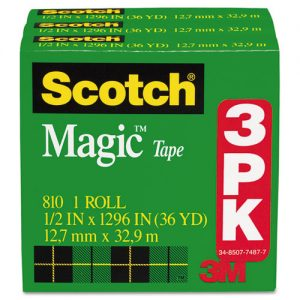 tape invisible 3 ct. Scotch 1/2""