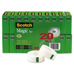 tape invisible 20 ct. Scotch 3/4""