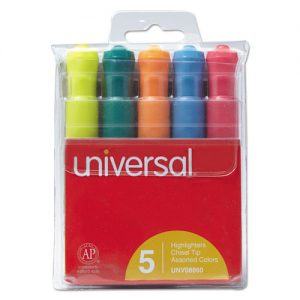 highlighters- multi color set of 5