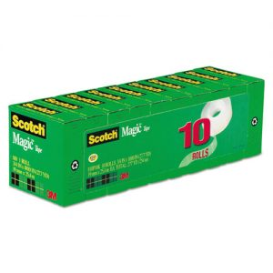 tape invisible 10 ct. Scotch 3/4""