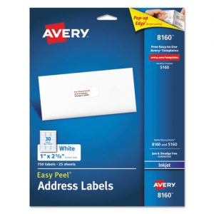 labels avery 8160 1x2 5/8