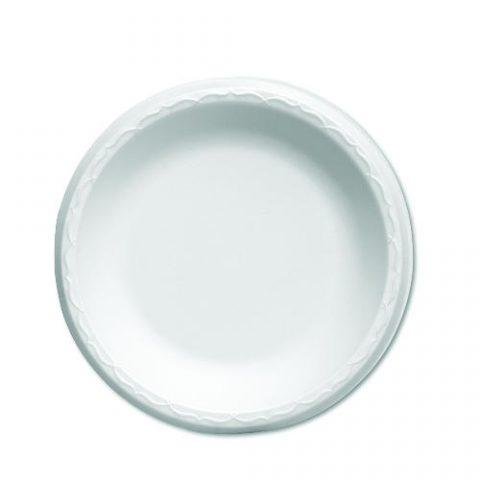 Foam Plates, Celebrity Foam Dinnerware White. Plates 6-in.