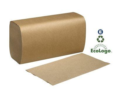 Single Fold Towel Brown