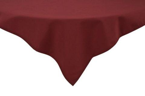 Tablecloth 52x52 Premier 100% Polyester 7.2oz Maroon