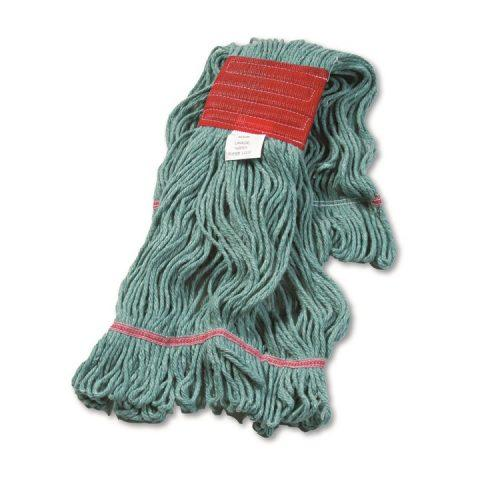Super Loop Wet Mop Head Cotton/Synthetic Blend Green Large