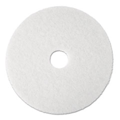 "Polishing Floor Pads, 19"" Diameter, White, 5/Carton"