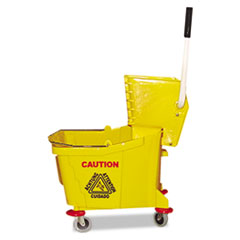 Mop Bucket with Wringer Combo - Plastic Yellow