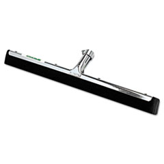 "Water Wand Standard Floor Squeegee, 18"" Wide Blade, Black Rubber, Insert Socket"