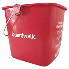 6 quart Red Plastic Bucket
