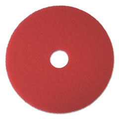 "Buffing Floor Pads, 19"" Diameter, Red, 5/Carton"