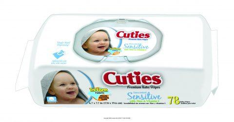 Cuties Baby Wipes, Sensitive, Soft Pack