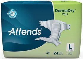ATTENDS DermaDry Plus Briefs, Large DDP30
