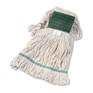 Super Loop Wet Mop Head Cotton/Synthetic Blend White Medium BWK502WHCT