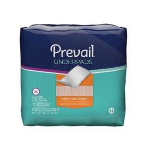 Prevail Super Absorbent Underpads, 30x30, X-Large, Printed Bag UP-100