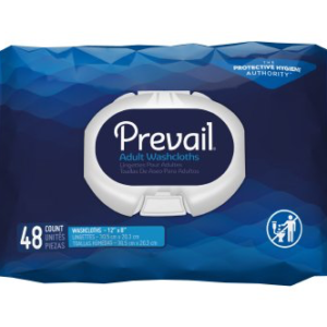 Prevail Soft Pack Washcloths with Press Open Lid WW-710