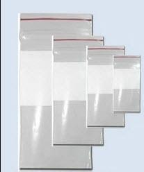 """Dukal Dawn Mist Plastic Re-closable, 2 mil, 8"""" L x 10"""" W, Clear with White Block ZIP810WB Case of 1000"""