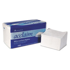 "Acclaim Napkins - 1ply 12.5"" by 11.5"" white 6000 ct. Case of 6000"