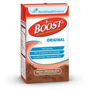 Boost Chocolate by Nestle - 8oz Tetra Brik - Original Nutritional Drink - 4390067538 Case of 27