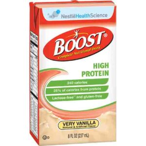 Boost High Protein Vanilla by Nestle - 8 oz Tetra Brik - 4390094139 Case of 27