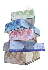 "Facial Tissues Bulk (2-ply) 7"" X 8"" T100VAP Case of 3000"