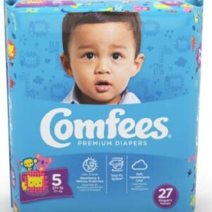 Comfees Baby Diapers Size 5 CMF-5 Case of 108