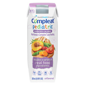Nestle Compleat Pediatric Reduced Calorie Formula - 8.45oz Carton - Real Food Ingredients - 4390038074 Case of 24