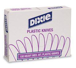 Dixie Plastic Knives - Medium Weight Disposable Knife KM207 Case of 1000