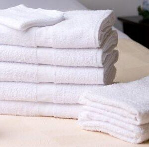 "100% Cotton Bath Towel (White) 4.0lb 20""x 40"" TE204040 Pack of 12"
