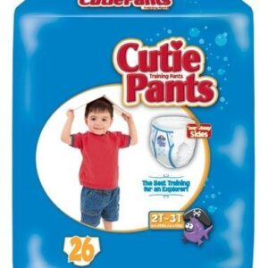 Cuties Boy Training Pants, 2T/3T up to 34lbs CR7007 Pack of 26
