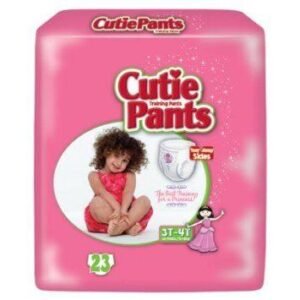 Cuties Girl Training Pants, 3T/4T 32-40lbs CR8008 Pack of 23
