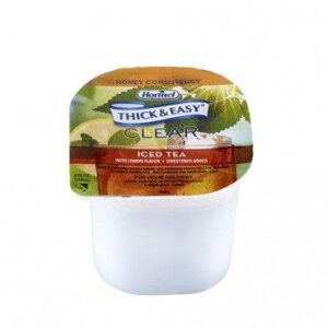 Thick and Easy Iced Tea Flavor, Honey Consistency Thickened Beverage 4oz 32870 Case of 24