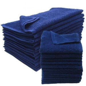 "100% Cotton Hand Towel, 3.0 LB, 16""x 27"" (BLUE) 1627BLU Pack of 24"