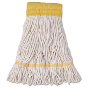 Super Loop Wet Mop Head Cotton/Synthetic Blend White Small BWK501WH