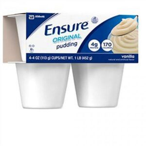 Ensure Pudding Vanilla 4oz Cup 54844 Pack of 4