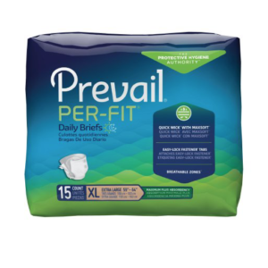 Prevail Per-Fit Adult Brief, X-Large, Heavy Absorbency Pack of 15