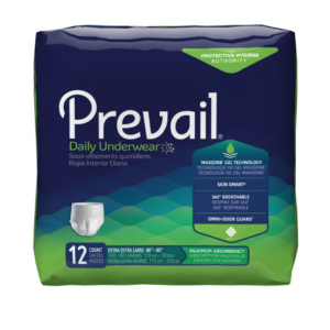 Prevail Daily Underwear, 2X-Large, Moderate Absorbency Pack of 12