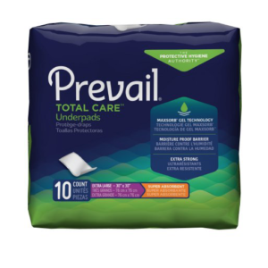 Prevail Total Care Adult Underpads, X-Large, Heavy Absorbency Case of 100