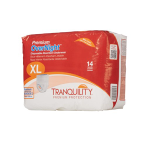 Tranquility Premium Overnight Disposable Underwear, X-Large, Heavy Absorbency, 2117 Case of 56