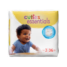 Cuties Baby Diapers, Size 3 CR3001 Pack of 36