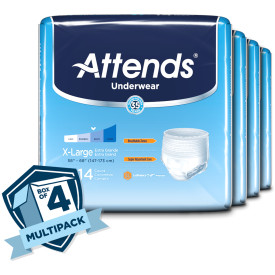 Attends Underwear Extra Absorbency, X-Large Case of 56