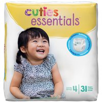 Cuties Baby Diapers, Size 4 CR4001 Case of 124