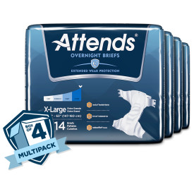 DDEW40 - Attends Overnight Briefs, X-Large Case of 56