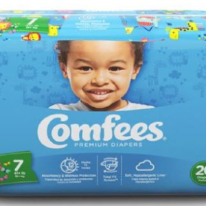 Comfees Baby Diapers Size 7 CMF-7 Case of 80