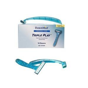 Dukal Razor, Triple Blade Pivot Head with Lubricating Strip DR3886-1 Box of 50