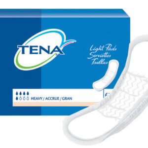 TENA® Light Incontinence Pads, Heavy Absorbency, Regular Length, 41509 Pack of 60