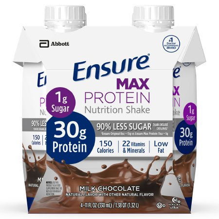 Ensure Max Protein, Milk Chocolate 11oz 66899 Pack of 4