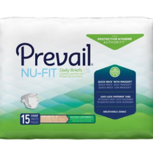 Prevail NU-FIT Adult Brief, X-Large, Heavy Absorbency Case of 60