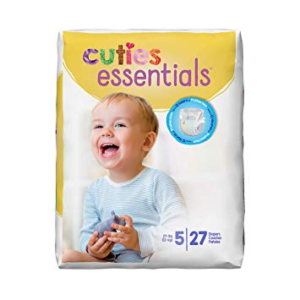 Cuties Baby Diapers, Size 5 CR5001 Case of 108