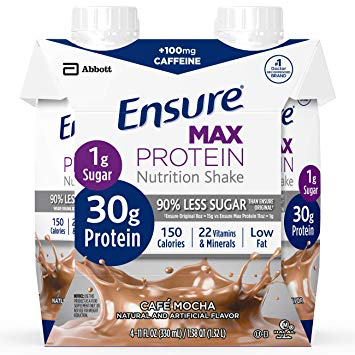 Ensure Max Protein, Cafe Mocha 11oz 66893, Pack of 4