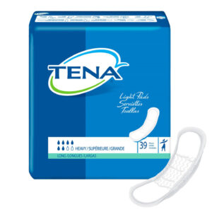 TENA® Light Incontinence Pads, Heavy Absorbency, Long Length, 47619 Pack of 39